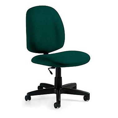 Global Custom Med Back Armless Task Chair, Hunter Green