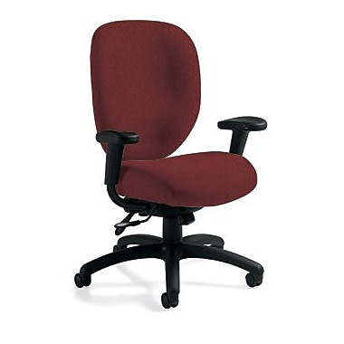 Global Custom HighBack Multi-Tilter, Burgundy, Premium Grade