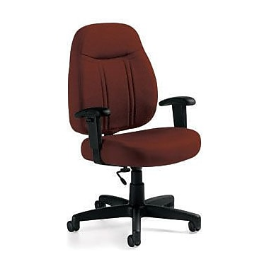 Global Custom High-Back Task Chair, Premium Grade, Russet