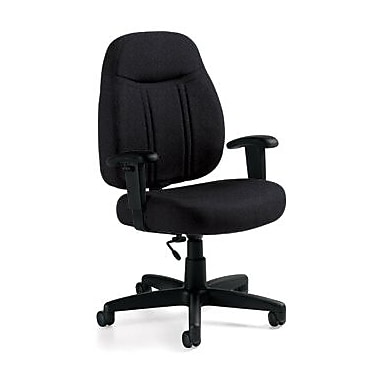 Global Custom High-Back Task Chair, Premium Grade, Ebony