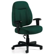 Global Custom High-Back Task Chair, Premium Grade, Hunter Green