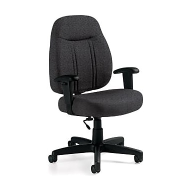 Global Custom High-Back Task Chair, Premium Grade, Grey