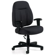 Global Custom High-Back Task Chair, Premium Grade, Charcoal