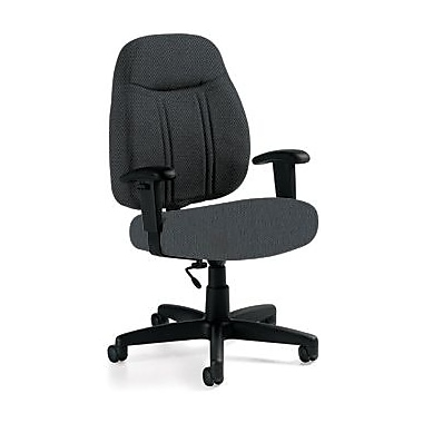 Global Custom High-Back Task Chair, Premium Grade, Stone