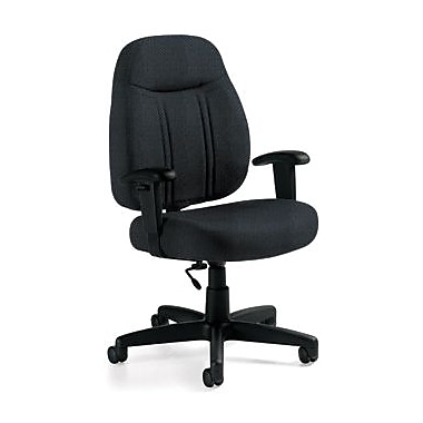 Global Custom High-Back Task Chair, Premium Grade, Asphalt
