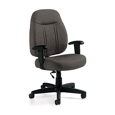 Global Custom High-Back Task Chair, Ultra-Premium Grade, Pewter