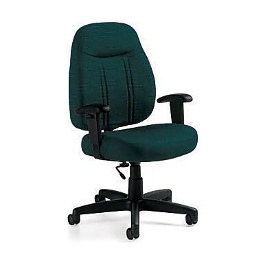 Global Custom High-Back Task Chair, Ultra-Premium Grade, Blue Grass