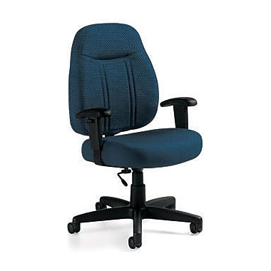 Global Custom High-Back Task Chair, Ultra-Premium Grade, Blueberry