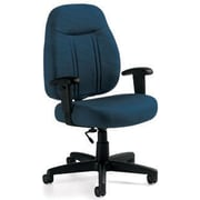 Global Custom High-Back Task Chair, Ultra-Premium Grade, Blueberry