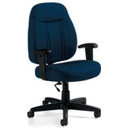 Global Custom High-Back Task Chair, Ultra-Premium Grade, Blue Bayou