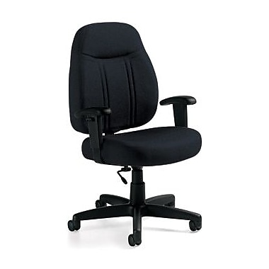 Global Custom High-Back Task Chair, Ultra-Premium Grade, Asphalt