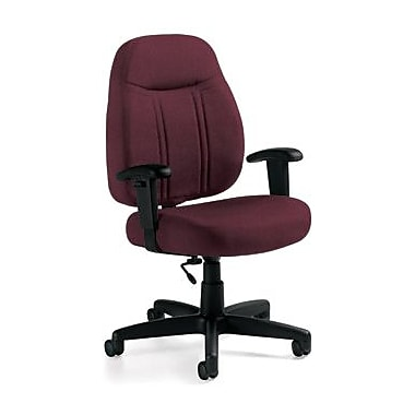 Global Custom High-Back Task Chair, Ultra-Premium Grade, Claret