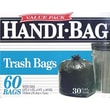 Webster® Handi-Bag Recycled Trash Bags, Black, 30 gal.