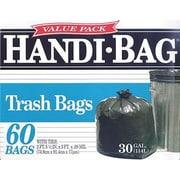 Webster® Handi-Bag Recycled Trash Bags, Black, 30 Gallon, 60 Bags/Box