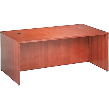 basyx by HON BW 72in. Rectangular Top Desk, Bourbon Cherry