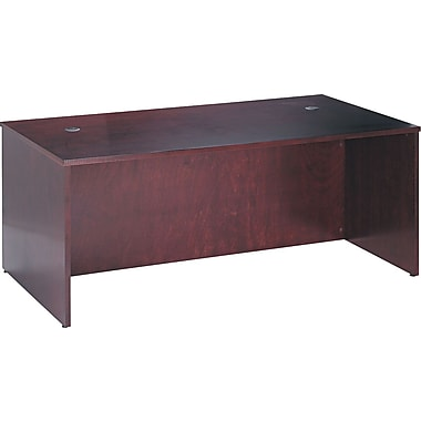 basyx by HON BW 72in. Rectangular Top Desk, Mahogany