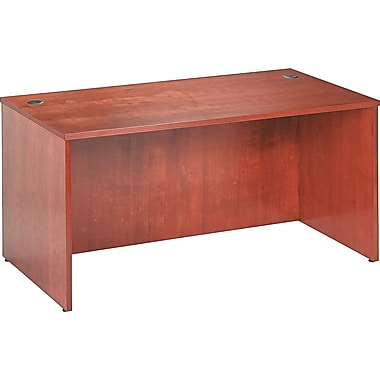 basyx by HON BW 60in. Rectangular Top Desk, Bourbon Cherry