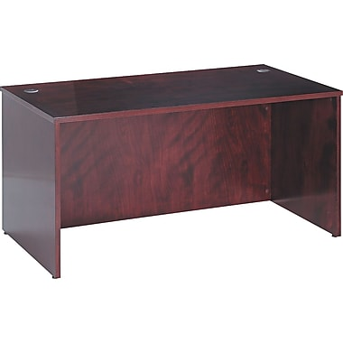 basyx by HON basyx BW 60in. Rectangular Top Desk, Mahogany