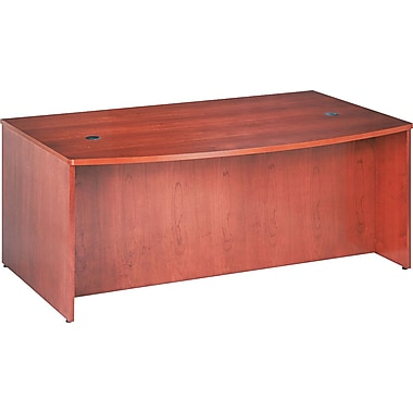 basyx by HON BW Bowfront Executive Desk, Bourbon Cherry