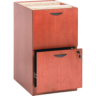 basyx by HON BW 2-Drawer Pedestal File, Bourbon Cherry