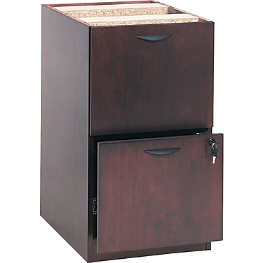 basyx by HON BW 2-Drawer Pedestal File, Mahogany