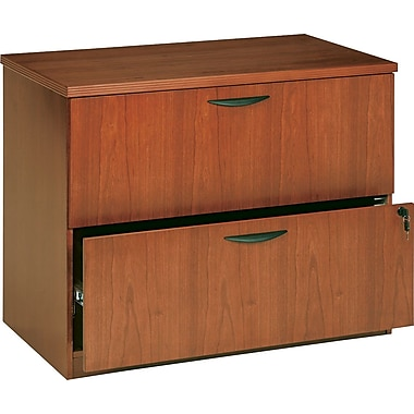basyx by HON BW 2-Drawer Lateral File, Bourbon Cherry