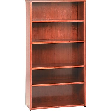 basyx by HON BW 5-Shelf Bookcase, Bourbon Cherry