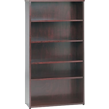 basyx by HON BW 5-Shelf Bookcase, Mahogany