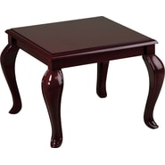 Office Star Traditional Queen Ann Reception Area End Table