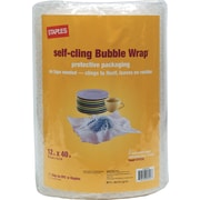 Staples® Self-Cling Bubble Roll, 12 x 40'