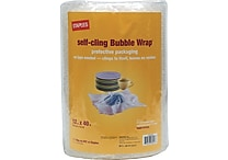 Staples® Self-Cling Bubble Wrap®, 12' x 40'