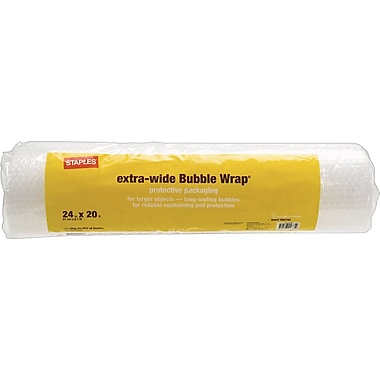 Staples® Extra Wide Bubble Wrap®, 24in. x 20'