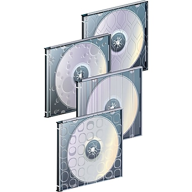 Staples 10mm Designer Slim Jewel Cases, 25/Pack