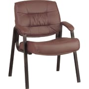 Office Star™ Deluxe Leather Guest Chair, Brown