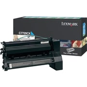 Lexmark C7720CX Cyan Toner Cartridge, Extra High Yield Return Program