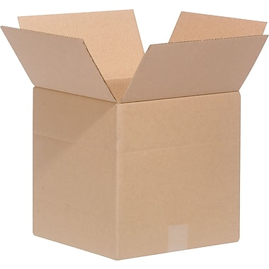 12in.(L) x 12in.(W) x 12in.(H)- Staples Multi-Depth Corrugated Shipping Boxes