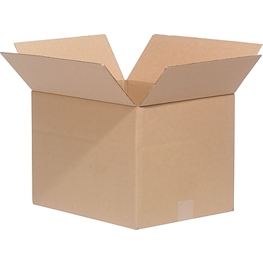 18in.(L) x 12in.(W) x 12in.(H)- Staples Multi-Depth Corrugated Shipping Boxes