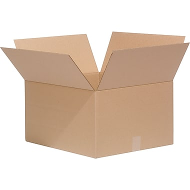 22in.(L) x 18in.(W) x 12in.(H)- Staples Multi-Depth Corrugated Shipping Boxes, 25/Bundle