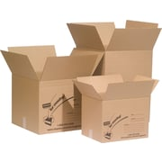 Staples Corrugated Fiberboard Boxes, Assorted Pack #1, Assorted Sizes, 18/Pack (70006)