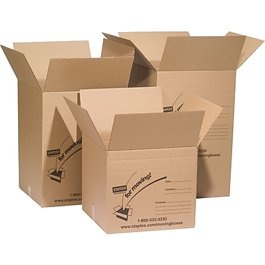 Staples® Assorted Size Shipping Boxes
