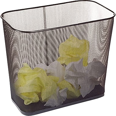Brighton Professional™ Black Wire Mesh Rectangular Wastebin, 5.2 gal.