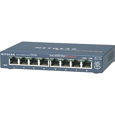 NETGEAR ProSAFE 8-Port Fast Ethernet Desktop Switch FS108