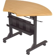 Balt 4' 1/4 Round Laminate Flipper Training Table, Teak