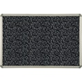 Best-Rite® Black Rubber-Tak Bulletin Board with Euro Trim Frame, 4' x 4'