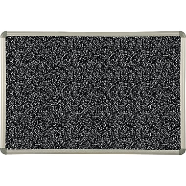 Best-Rite® Black Rubber-Tak Bulletin Board with Euro Trim Frame, 2' x 1-1/2'