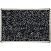 Best-Rite Black Rubber-Tak Bulletin Boards, Euro Trim Frame, 6' x 4'