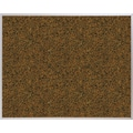 Best-Rite Blue Splash Cork Bulletin Board, Aluminum Trim Frame, 4' x 4'