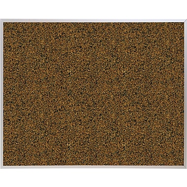 Best-Rite Blue Splash Cork Bulletin Board, Aluminum Trim Frame, 4' x 3'