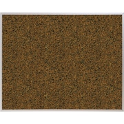 Best-Rite Blue Splash Cork Bulletin Board, Aluminum Trim Frame, 12' x 4'