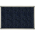 Best-Rite® Blue Rubber-Tak Bulletin Board with Euro Trim Frame, 12' x 4'